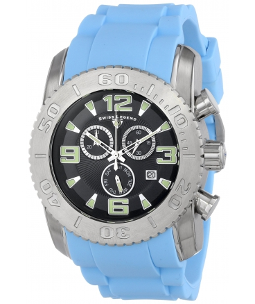 Men's Commander Analog Display Swiss Quartz Blue Watch