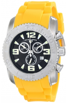 Men's Commander Analog Display Swiss Quartz Yellow Watch