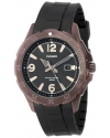 Men's Brown Ion-Plated Stainless Steel Analog Watch