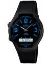 Men's Black Resin Quartz Watch with Black Dial