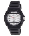 Men's Black Resin Quartz Watch with White Dial