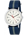 """Mens """"Weekender"""" Watch with Blue and Gray Nylon Strap"""