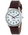 "Men's ""Easy Reader"" Brown Leather Strap Watch"