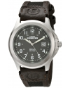 Men's Expedition Metal Field Brown Nylon and Leather Strap Watch