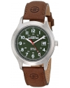 """Men's """"Expedition"""" Metal Field Watch with Brown Leather Band"""