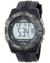 Men's Expedition Rugged Digital Vibration Alarm Black Resin Strap Watch