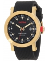 Men's Compressor Black Dial Black Silicone Watch