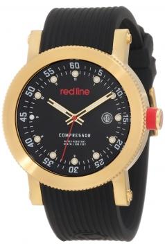 Men's Compressor Black Dial Black Silicone Watch