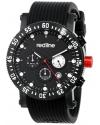 Men's Compressor Chronograph Black Dial Black Silicone Watch