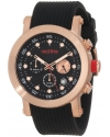 Men's Compressor Chronograph Black Dial Black Silicone Watch