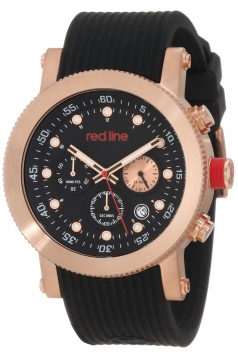 red line Men's RL-18101VD-RG-01 Compressor Chronograph Black Dial Black Silicone Watch