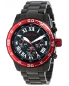 red line Men's RL-60048 Chronograph Black Dial Black Ion-Plated Stainless Steel Watch