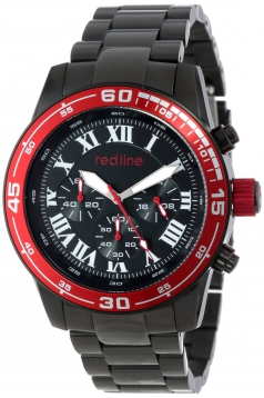 Men's Chronograph Black Dial Black Ion-Plated Stainless Steel Watch