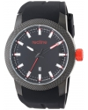 Men's Gauge Analog Display Japanese Quartz Black Watch