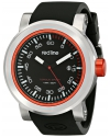 """Men's """"Torque Sport"""" Stainless Steel Watch With Black Silicone Band"""