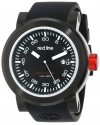 "Men's  ""Torque"" Stainless Steel Watch with Black Silicone Band"