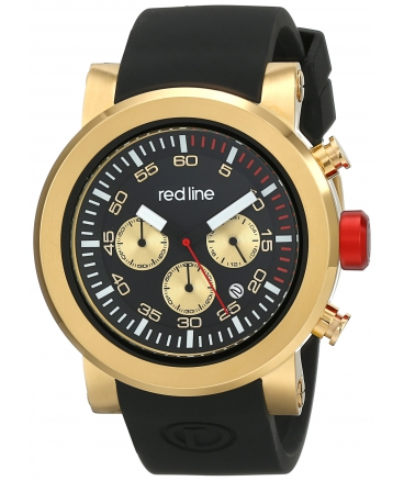 red line Men's RL-50050-YG-01 Torque Sport Analog Display Japanese Quartz Black Watch