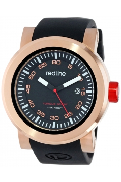 red line Men's RL-50049-RG-01 Torque Sport Black Dial Silicone Band Watch