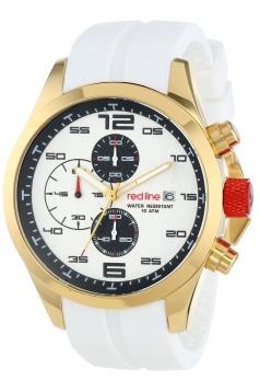 red line Men's RL-50042-YG-02-WHT Stealth Analog Display Japanese Quartz White Watch
