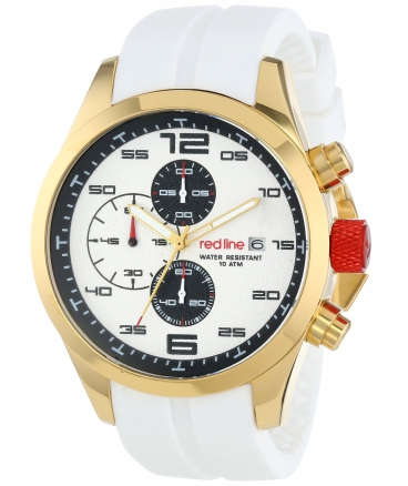 red line Men's RL-50042-YG-02-WHT Stealth Analog Display Japanese Quartz White Watch