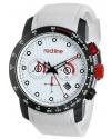 Men's Velocity White Textured Dial White Silicone Watch