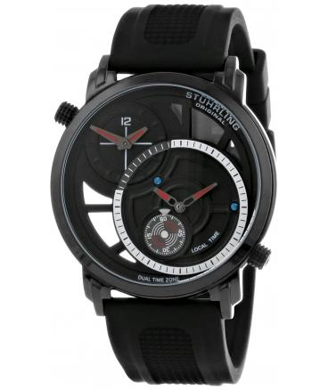 Men's Eclipse Horizon Swiss Quartz Dual Time Black Watch