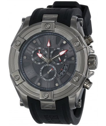 Elini Barokas Men's 10056-GM-014 Fortitudo Analog Display Swiss Quartz Black Watch