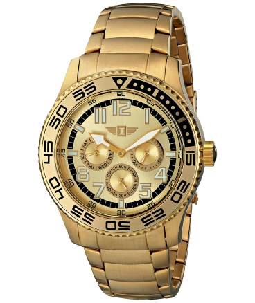 I By Invicta Men's 43658-005 Gold Dial 18k Gold-Plated Stainless Steel Watch