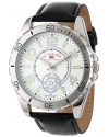 Classic Men's Black Synthetic Leather Strap Watch