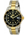 Men's Pro Diver Analog Display Japanese Automatic Two Tone Watch