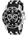 "Men's ""Pro Diver Collection"" Stainless Steel and Black Polyurethane Watch"