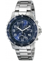 Men's II Collection Chronograph Stainless Steel Blue Dial Watch