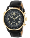 Men's Skyline Analog Display Swiss Quartz Black Watch