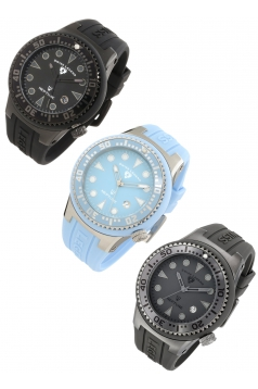 "3 in 1 Men's ""Neptune"" Stainless Steel Watches"