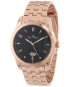 Men's Diablons Black Dial Rose Gold Ion-Plated Stainless Steel Watch