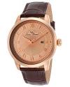 Men's Solstice Analog Display Japanese Quartz Brown Watch