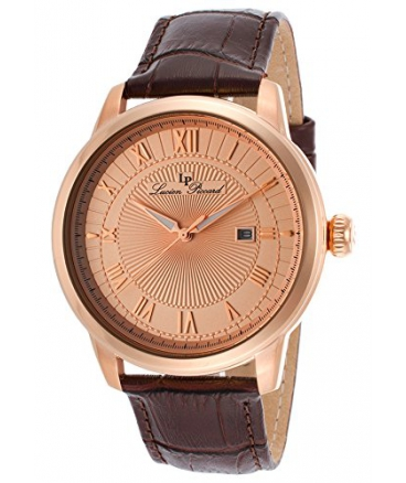 Lucien Piccard Men's LP-12758-RG-09 Solstice Analog Display Japanese Quartz Brown Watch