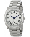 Men's Pyar Silver Textured Dial Stainless Steel Watch