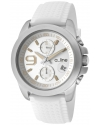 Women's Aroha Chronograph Silver Dial White Silicone Watch