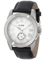 Women's Amare Silver Dial Black Leather Band Watch