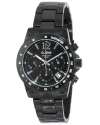 Women's Liebe Chronograph Black Dial Black Ion-Plated Stainless Steel Watch
