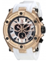 Elini Barokas Men's ELINI-10056-RG-02S-WHT Gladiator Analog Display Swiss Quartz White Watch