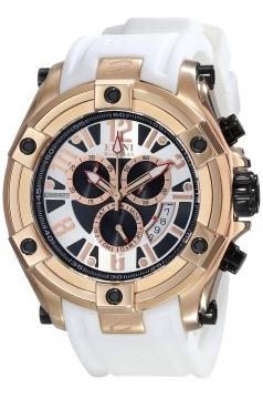 Elini Barokas Men's ELINI-10056-RG-02S-WHT Gladiator Analog Display Swiss Quartz White Watch