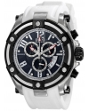 Elini Barokas Men's ELINI-10056-01-WHTSA Gladiator Analog Display Swiss Quartz White Watch