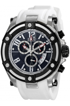 Elini Barokas Men's ELINI-10056-01-WHTSA Gladiator Analog Display Swiss Quartz White Watch