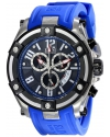 Elini Barokas Men's ELINI-10056-01-BLSA Gladiator Analog Display Swiss Quartz Blue Watch