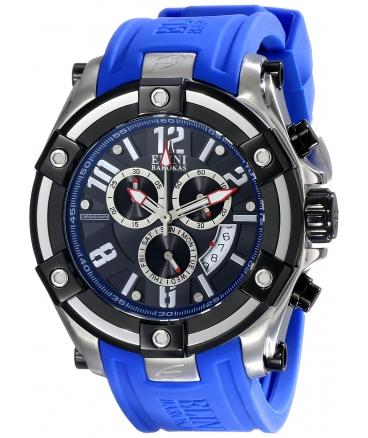 Elini Barokas Men's ELINI-10056-01-BLSA Gladiator Analog Display Swiss Quartz Blue Watch