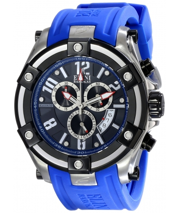 Men's Gladiator Analog Display Swiss Quartz Blue Watch