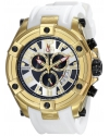 Elini Barokas Men's ELINI-10056-YG-02S-WHT Gladiator Analog Display Swiss Quartz White Watch