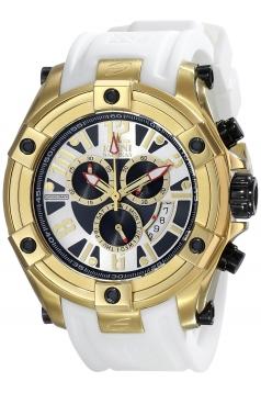Men's Gladiator Analog Display Swiss Quartz White Watch